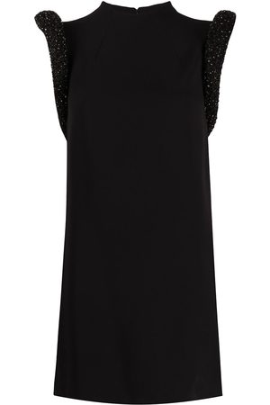 VERSACE Women Party Dresses - Sculptural shoulder cut-out mini dress