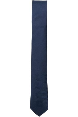 HUGO BOSS Logo jacquard silk tie