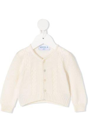 SIOLA Button-down knit cardigan - Neutrals