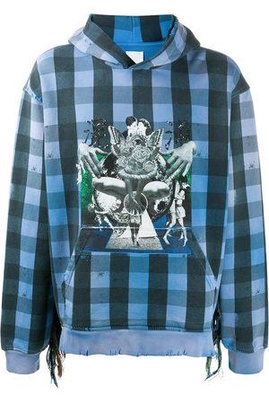 Alchemist Babylon Burning check hoodie