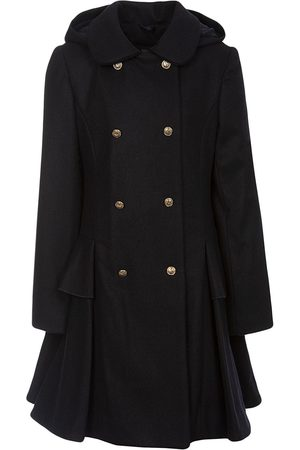 Lapin House Double-breasted hooded coat