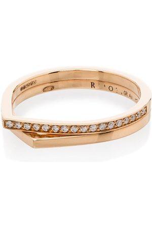 Repossi 18kt rose Antifer diamond double ring