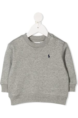 Ralph Lauren Hoodies - Logo embroidered crew neck sweatshirt - Grey