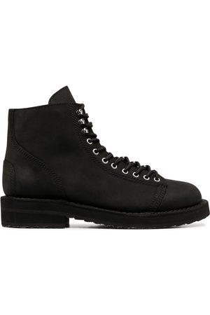 YOHJI YAMAMOTO Men Lace-up Boots - Asymmetrical lace-up boots