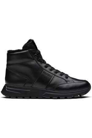 Prada High-top lace-up sneakers