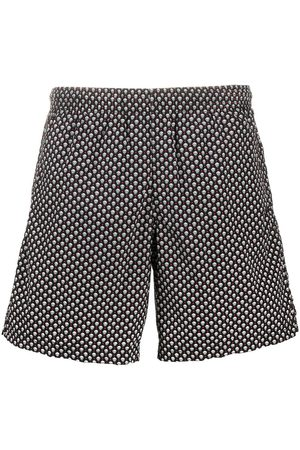 Alexander McQueen Men Swim Shorts - Skull pattern swim shorts