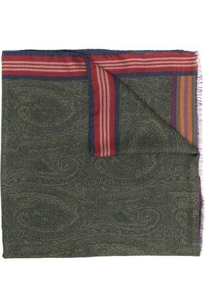 Etro Logo paisley embroidered scarf