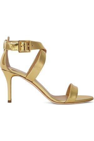 Giuseppe Zanotti Women Sandals - Metallic cross-strap high-heel sandals