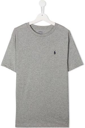 Ralph Lauren Kids Boys T-shirts - Crew neck cotton T-shirt - Grey