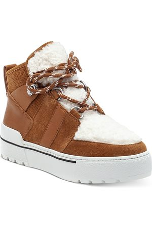 JSLIDES Nell Faux Shearling Sneaker Booties