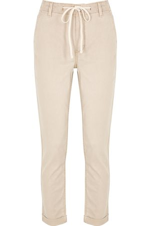 Paige Christy sand slim-leg trousers