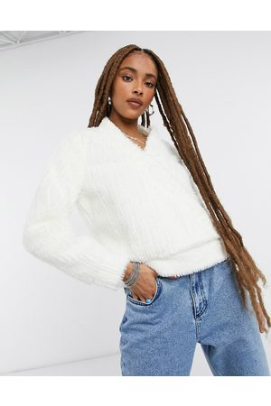 Moon River Teddy wrap over sweater in