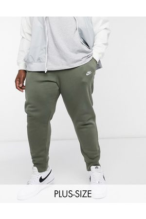 Nike Club cuffed sweatpants in khaki