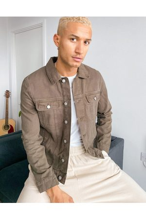 ASOS Denim western jacket in dark khaki