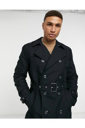 ASOS Trench Coats - Shower resistant longline trench coat with belt in