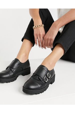 London Rebel Women Formal Shoes - Chunky double monk shoes
