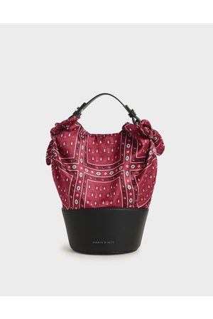 CHARLES & KEITH Hair Accessories - Summer 2020 Responsible Collection: Bandana Print Bucket Bag