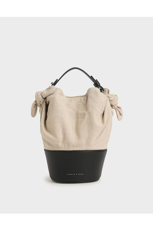 CHARLES & KEITH Bags - Summer 2020 Responsible Collection: Linen Bucket Bag