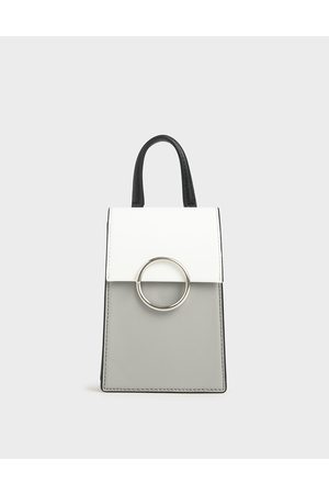 CHARLES & KEITH Two-Tone Ring Detail Elongated Bag