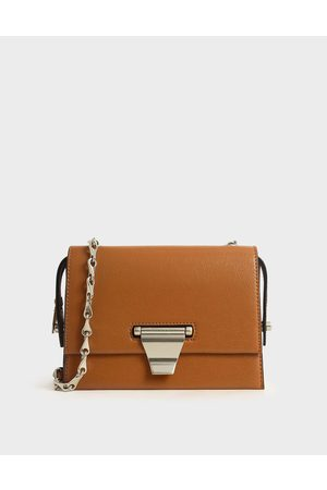 CHARLES & KEITH Metal Push-Lock Crossbody Bag
