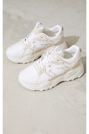 PRETTYLITTLETHING Stone Chunky Panelled Sneakers