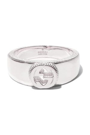 Gucci GG Cut-out Sterling- Ring - Mens