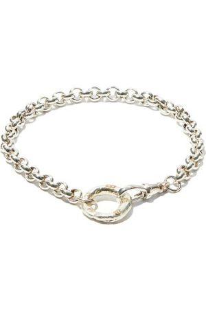 Bleue Burnham B Oxidised Recycled- Chain Bracelet - Mens