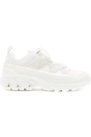 Burberry Men Sneakers - Arthur Overshoe Ripstop And Suede Trainers - Mens