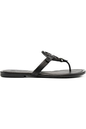 Tory Burch Miller embellished-logo sandals
