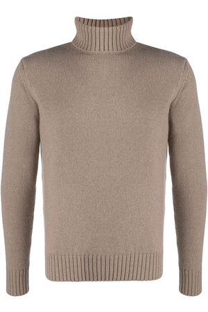 Cruciani Ribbed knit detail roll neck jumper