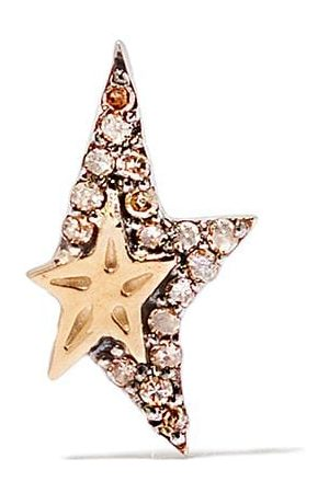 Pascale Monvoisin 9kt yellow diamond Varda single earring