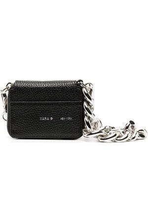 KARA Chain strap pebbled mini bag
