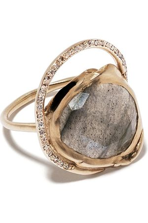 Pascale Monvoisin 9kt yellow diamond Gaïa ring