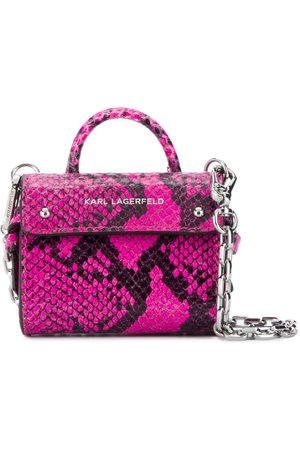 Karl Lagerfeld K/Ikon snakeskin-effect tote bag
