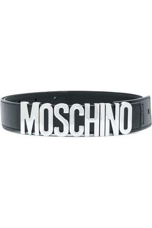 Moschino Women Belts - Logo plaque belt