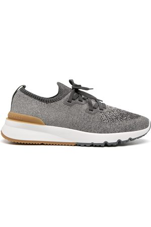 Brunello Cucinelli Knitted low-top sneakers - Grey