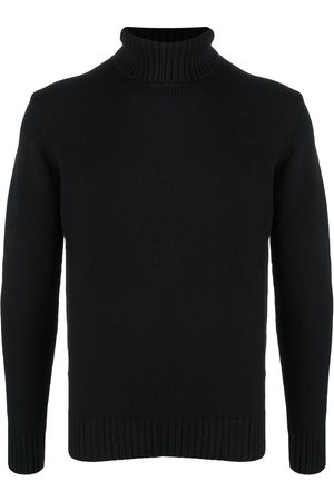 Cruciani Ribbed knit edge roll neck jumper
