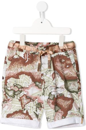 Alviero Martini Kids Map-print track shorts