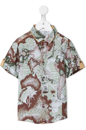 Alviero Martini Kids Boys Shirts - Map-print shirt