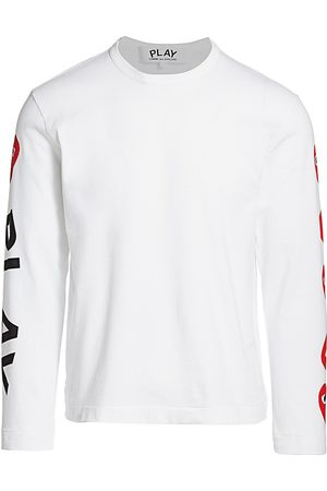 Comme des Garçons Men's Multi-Heart Long-Sleeve Tee - - Size Small
