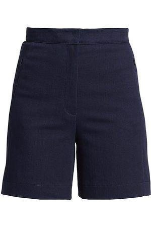 AKRIS Women's Tailored Denim Shorts - Navy - Size 12