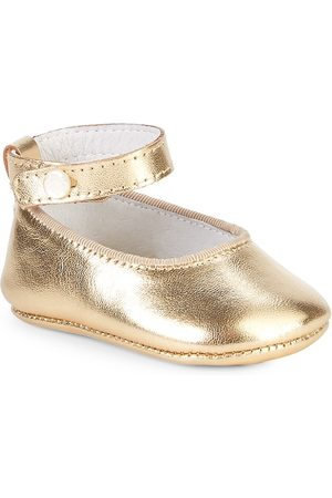 Ralph Lauren Baby Girl's Amile Metallic Leather Ballet Flats - - Size 4 (Baby)
