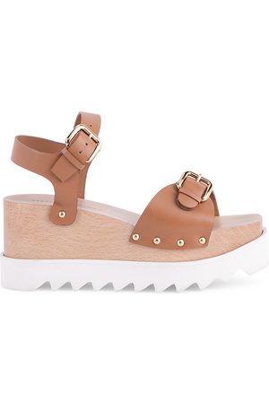 Stella McCartney Women's Elyse Platform Wedge Sandals - - Size 38.5 (8.5)