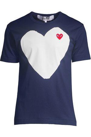 Comme des Garçons Men's Heart In Heart Graphic Tee - - Size Large