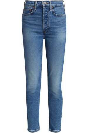 RE/DONE Women's 90s High-Rise Ankle Cropped Skinny Jeans - - Size 31 (10)