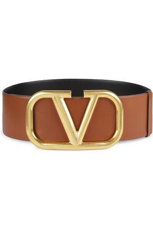 VALENTINO Women's Garavani Vlogo Leather Belt - - Size 95 (XL)
