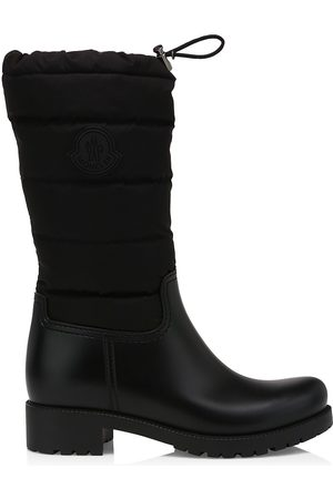 Moncler Women's Ginette Drawstring Quilted Tall Boots - - Size 40 (10)