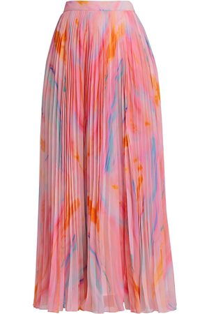 ROCOCO Women's Davina Marble Pleated Skirt - - Size Medium