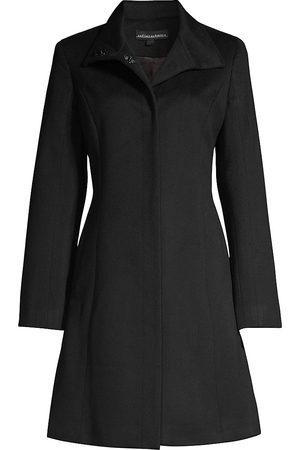 Sofia Cashmere Women's Funnel-Neck Wool-Blend Coat - - Size 12