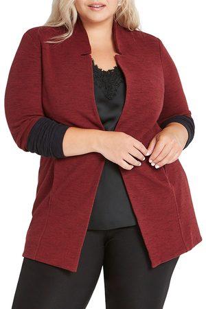 NIC+ZOE, Plus Size Women's Colorblock Me Knit Jacket - - Size 2X (18-20)